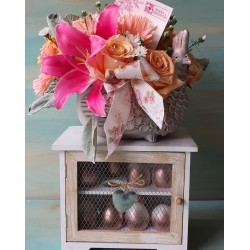 Gabinete con Gallina Rose Gold